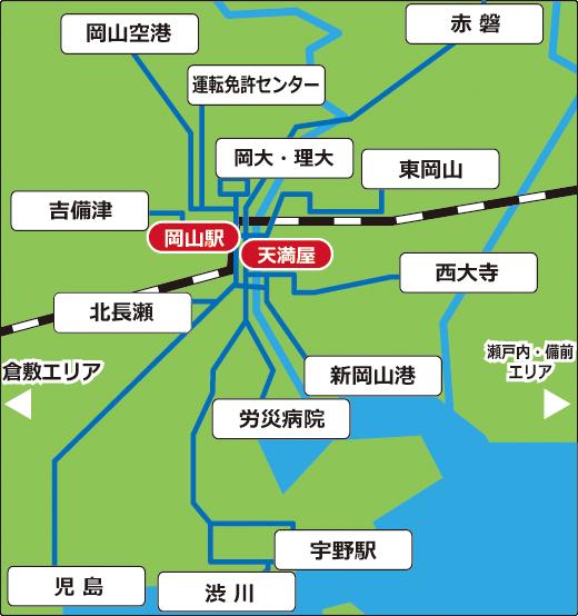 岡山市周辺広域マップ